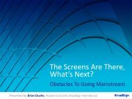 The Screens Are There, What's Next? - invidis