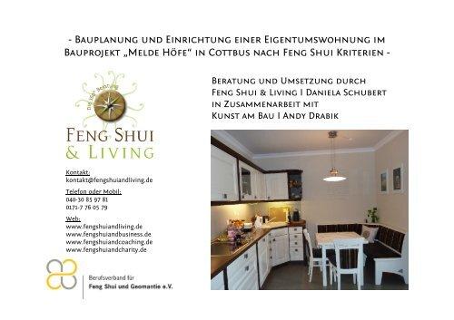 """Bauplanung und Einrichtung einer Eigentumswohnung im Bauprojekt """"Melde Höfe"""" in Cottbus nach Feng Shui Kriterien"""