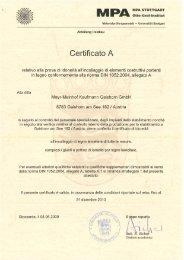Certificato A