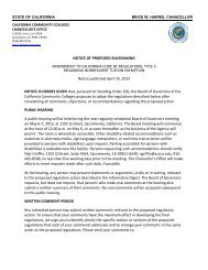 Notice - California Community Colleges Chancellor's Office