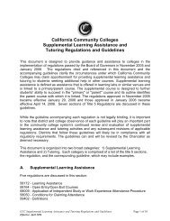 California Community Colleges Supplemental Learning Assistance ...