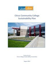 Citrus Community College Sustainability Plan - System Operations