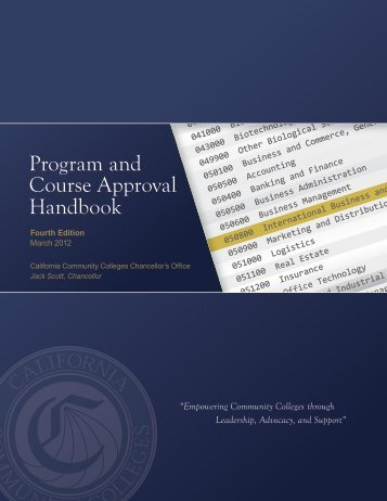 Program & Course Approval Handbook - System Operations ...