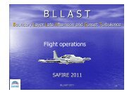 A. Butet's presentation of the aircraft operations rules ... - bllast