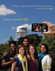 Picture yourself here - College of Agricultural and Environmental ...