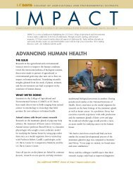 AdvAncing HumAn HeAltH - College of Agricultural and ...