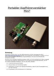 Portabler Kopfhörerverstärker Mini³ - Arcor