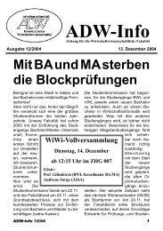 Ausgabe 01 - Arbeitsgemeinschaft Demokratischer ...
