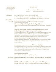 download CV here (.pdf file) - Colette Copeland