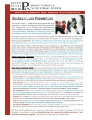 Hockey Injury Prevention - CARHA Hockey