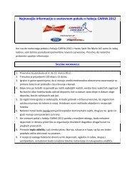 Najnovej?e informacije o svetovnem pokalu v ... - CARHA Hockey