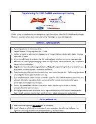 Oppdatering for 2012 CARHA verdenscup i hockey - CARHA Hockey