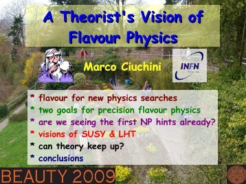 A Theorist's Vision of Flavour Physics - Beauty 2009