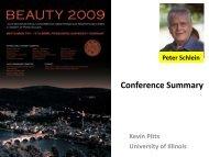 Conference Summary - Beauty 2009