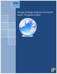 Syringe exchange programs around the world: The global ... - GMHC