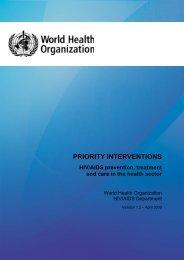 Priority interventions: HIV - World Health Organization