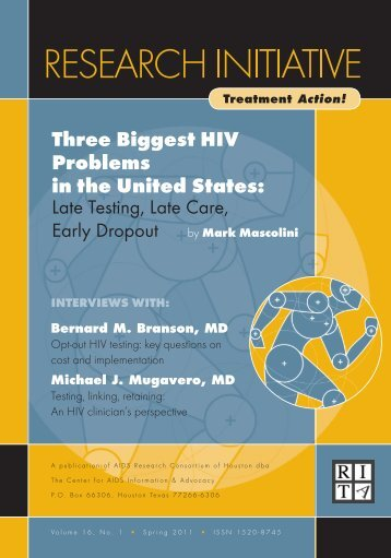 Three Biggest HIV Problems in the United States: - Center For Aids