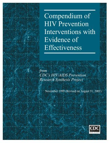 Compendium of HIV Prevention Interventions with Evidence of ...