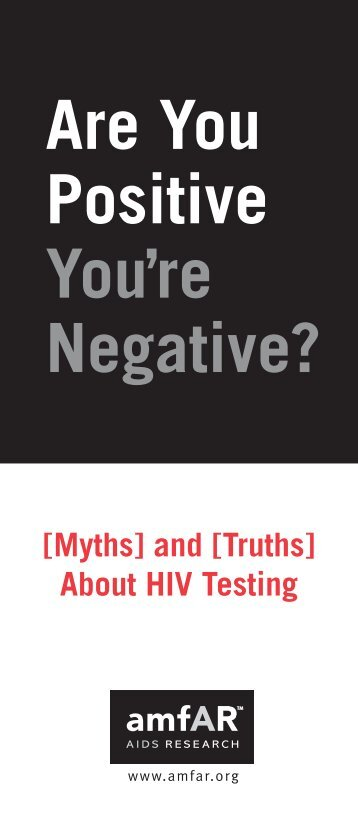 Myths and Truths About HIV Testing - amfAR
