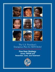 The U.S. President's Emergency Plan for AIDS Relief - Pepfar