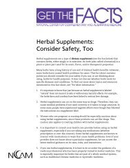 Herbal Supplements: Consider Safety, Too - The Body