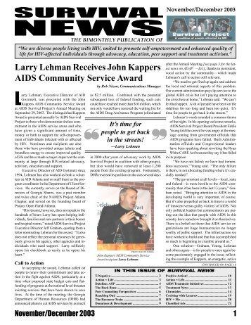 Larry Lehman Receives John Kappers AIDS Community Service ...
