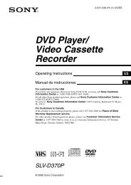 DVD Player/ Video Cassette Recorder - Department of Animal Science