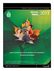 RappoRt annuel 2011 - Tribunal canadien des droits de la personne