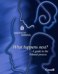 The Canadian Human Rights Tribunal process