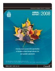 Canadian Human Rights Tribunal Annual Report 2008