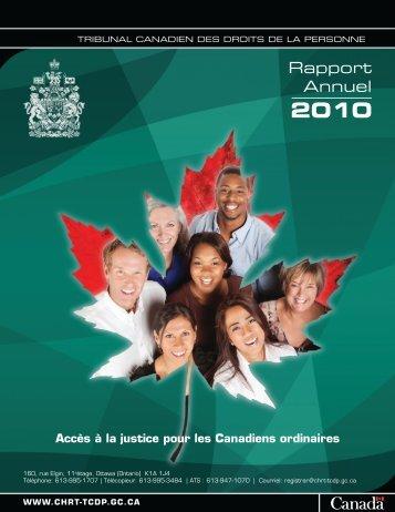 2010 - Tribunal canadien des droits de la personne