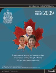Canadian Human Rights Tribunal Annual Report 2009