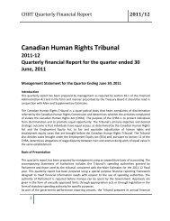 CHRT Quarterly Financial Report