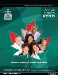 Annual Report - Tribunal canadien des droits de la personne