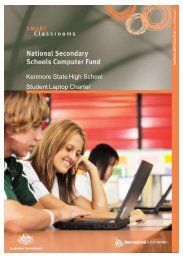 Student laptop charter 2013 - Kenmore State High School