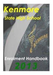 Enrolment Handbook - Kenmore State High School - Education ...