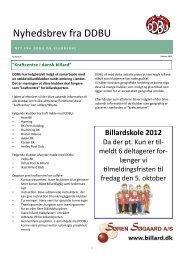 Nyhedsbrev 8 - Den Danske Billard Union