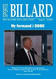 Ny formand i DDBU - Den Danske Billard Union