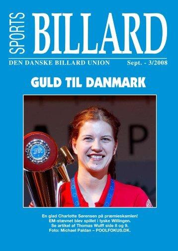 GULD TIL DANMARK - Den Danske Billard Union