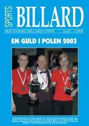 EM GULD I POLEN 2003 - Den Danske Billard Union
