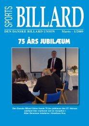 75 ÅRS JUBILÆUM - Den Danske Billard Union