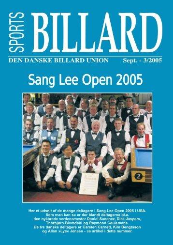 Sang Lee Open 2005 - Den Danske Billard Union
