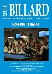 Hold DM i 3 Bande - Den Danske Billard Union