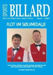 FLOT VM SØLVMEDALJE - Den Danske Billard Union
