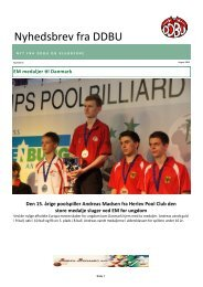 Nyhedsbrev fra DDBU - Den Danske Billard Union