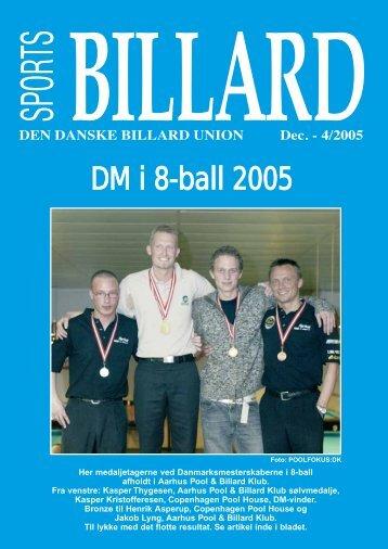 DM i 8-ball 2005 - Den Danske Billard Union