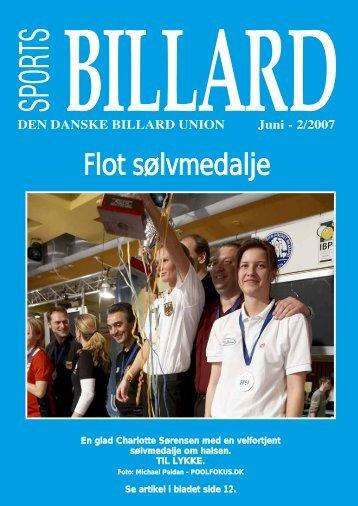 Flot sølvmedalje - Den Danske Billard Union