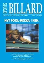 NYT POOL-MEKKA I KBH. - Den Danske Billard Union