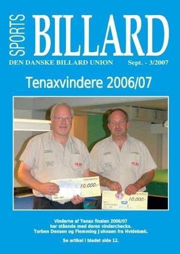 Tenaxvindere 2006/07 - Den Danske Billard Union