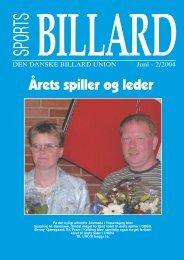 Årets spiller og leder - Den Danske Billard Union